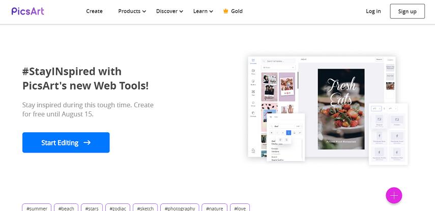Picsart - 10 Aplikasi Desain Grafis Online Gratis Terbaik Paling Populer