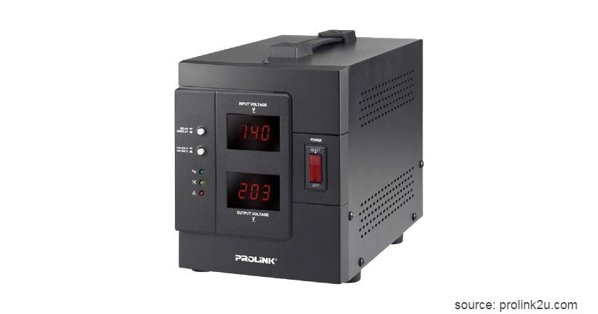 Prolink PVR1000D - 7 Stabilizer Listrik Terbaik dengan Harga Terjangkau