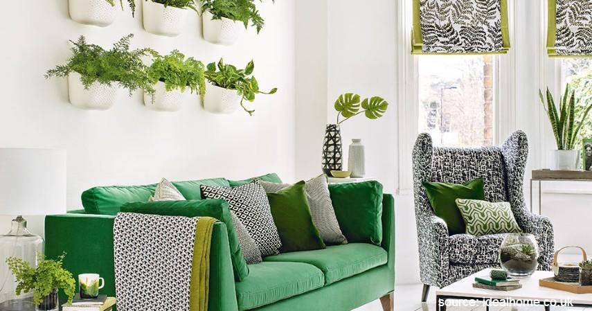 Ruang Tamu Bernuansa Botani - Desain Ruang Tamu Minimalis yang Bikin Rumah Nampak Ciamik