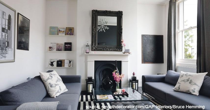 Ruang Tamu Bernuansa Monokrom - Desain Ruang Tamu Minimalis yang Bikin Rumah Nampak Ciamik