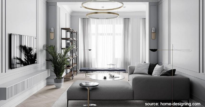 Ruang Tamu Bernuansa Neoklasik - Desain Ruang Tamu Minimalis yang Bikin Rumah Nampak Ciamik