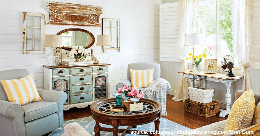 Ruang Tamu Bernuansa Vintage - Desain Ruang Tamu Minimalis yang Bikin Rumah Nampak Ciamik