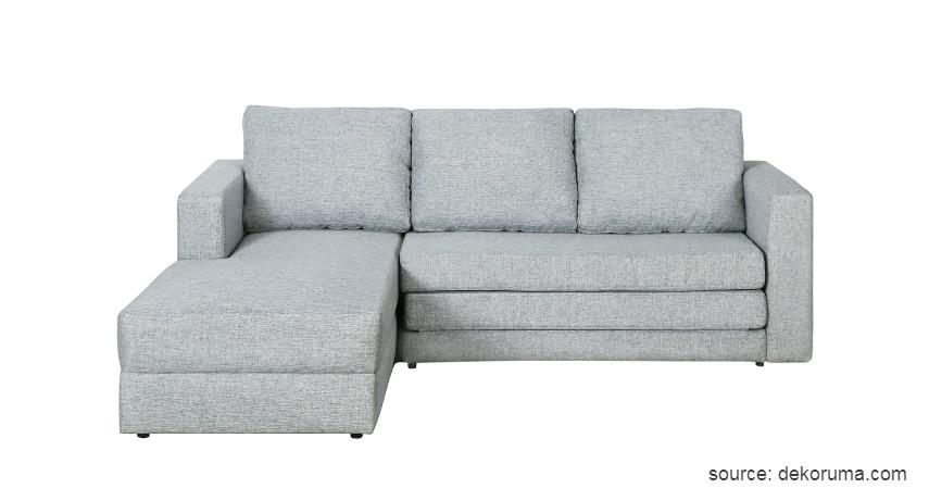 Sofa Bentuk L - 15 Ide Sofa Ruang Tamu Sempit yang Harganya Gak Bikin Mengernyit