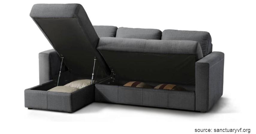 Sofa Ruang Tamu dengan Penyimpanan - 15 Ide Sofa Ruang Tamu Sempit yang Harganya Gak Bikin Mengernyit