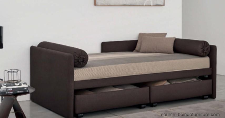 Sofa Tanpa Sandaran - 15 Ide Sofa Ruang Tamu Sempit yang Harganya Gak Bikin Mengernyit