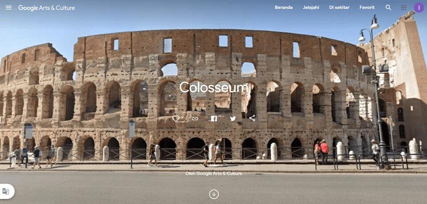Jalan-jalan Virtual ke Colosseum Roma Italia - Jalan-Jalan Virtual Asyik dan Seru di Tengah Pandemi