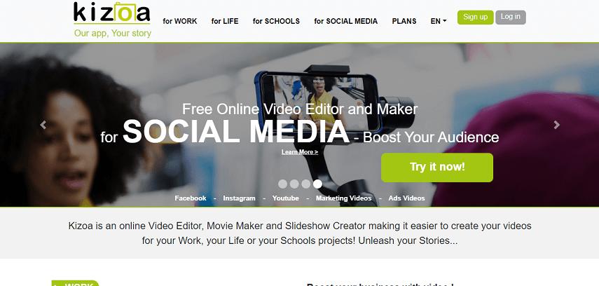 Kizoa - 7 Aplikasi Edit Video Online Terbaik untuk Pemula