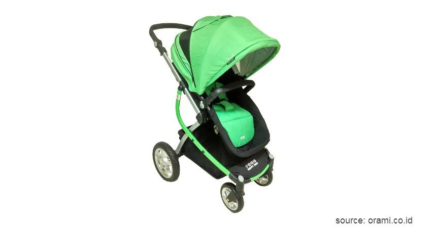 Stroller Bayi Happy Dino - 9 Merk Stroller Bayi yang Bagus Ringan dan Murah