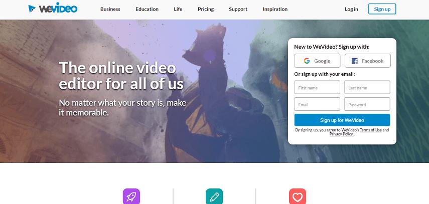 WeVideo - 7 Aplikasi Edit Video Online Terbaik untuk Pemula