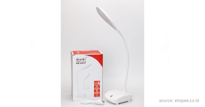 Aoki - 10 Merek Lampu Meja Terbaik untuk Bantu Aktivitas Belajar di Rumah