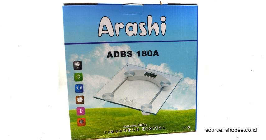 Arashi Timbangan Badan Digital LED - 10 Merek Timbangan Badan Digital Terbaik untuk Mengontrol Berat Badan Selama Pandemi
