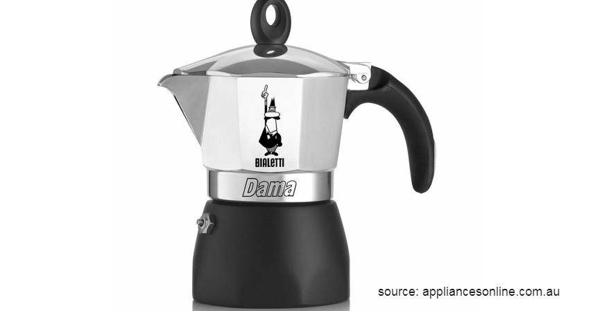 Bialleti Dama Espresso Maker 6 Cups - 12 Merek Mesin Kopi Terbaik Favorit Banyak Orang