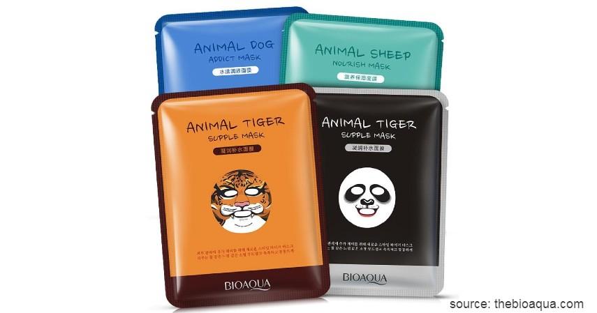 Bioaqua Cute Animal Face Masks - 15 Merek Sheet Mask Terbaik 2020