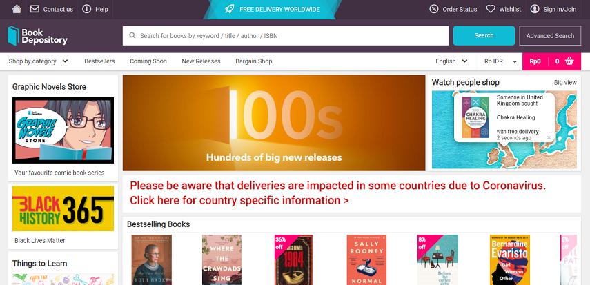 Book Depository - 6 Cara Membeli Buku Import Online dengan Mudah dan Cepat
