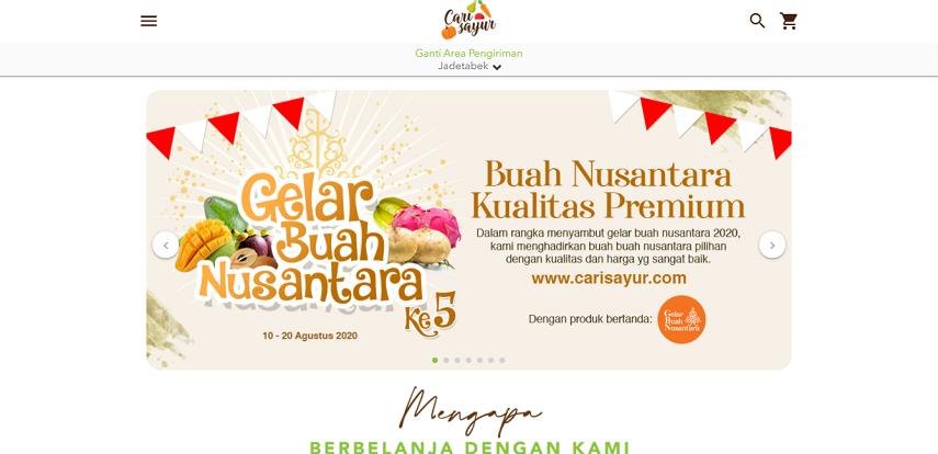 Cari Sayur - 15 Daftar Penjual Sayur dan Buah Online Terlengkap