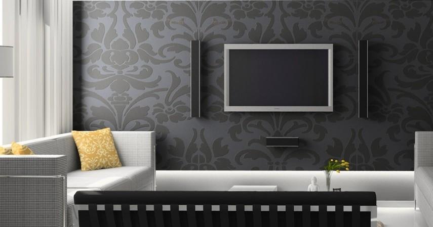 Cek kerapian pemasangan - Cara Memasang Wallpaper Dinding