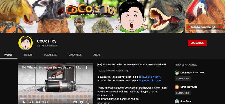 Coco's Toy - 8 Channel YouTube Edukatif untuk Anak