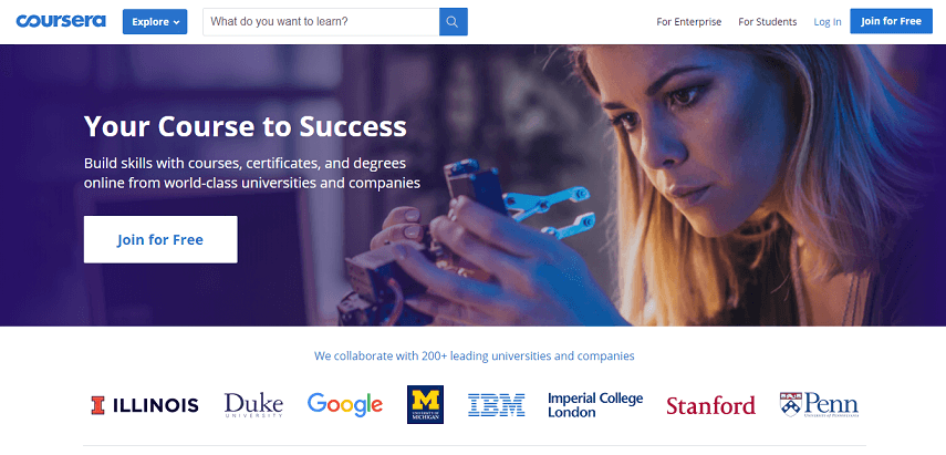 Coursera - 7 Situs Belajar Online Gratis