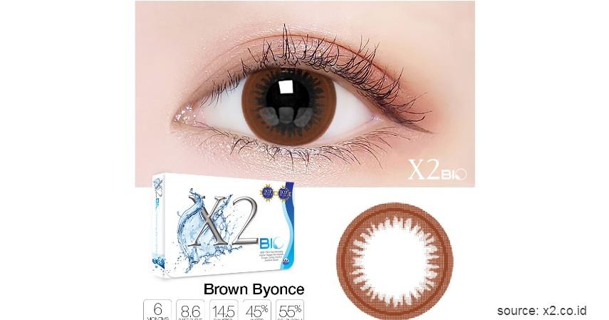 Exoticon - X2 Bio Softlens Brown Byonce - 10 Merek Softlens Terbaik