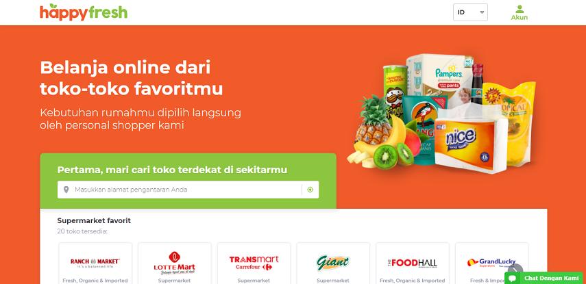 HappyFresh - 15 Daftar Penjual Sayur dan Buah Online Terlengkap