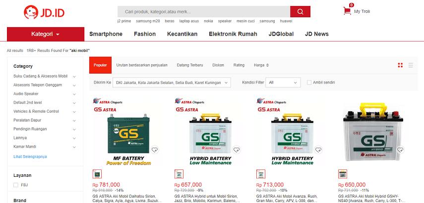 JD ID - 5 Daftar Penjual Aki Mobil Online Terbaik dan Terpercaya