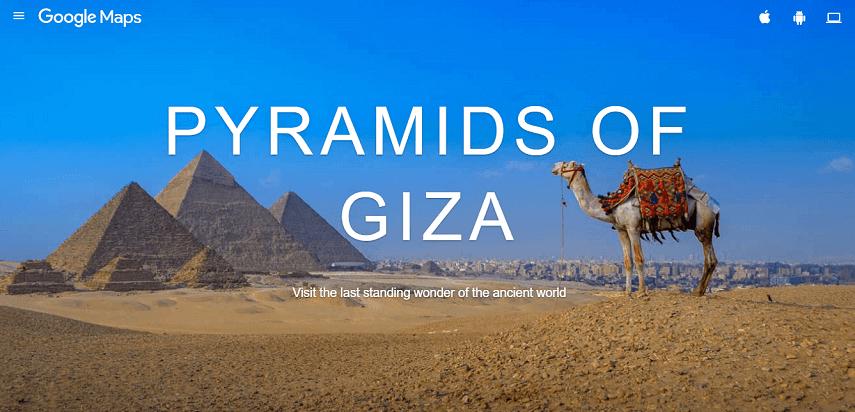 Jalan-jalan Virtual ke Pyramid of Giza Mesir - Jalan-Jalan Virtual Asyik dan Seru di Tengah Pandemi