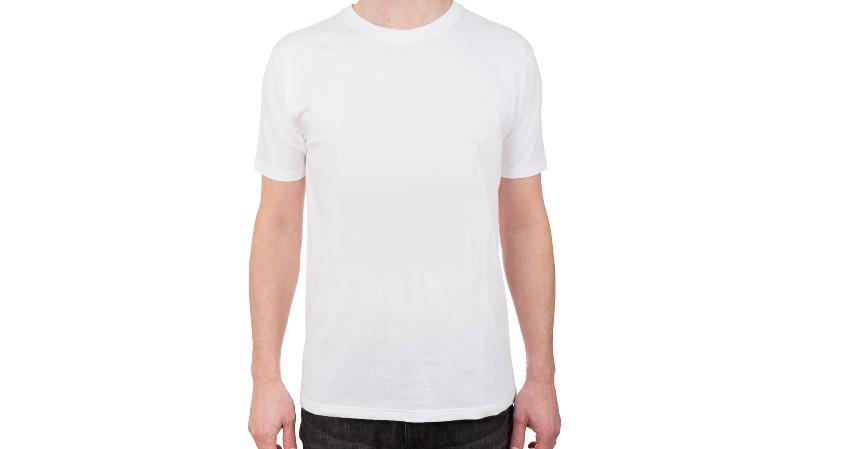 Kaos warna putih berbahan katun - Cara Membuat Motif Tye Dye beserta Peluang Usaha