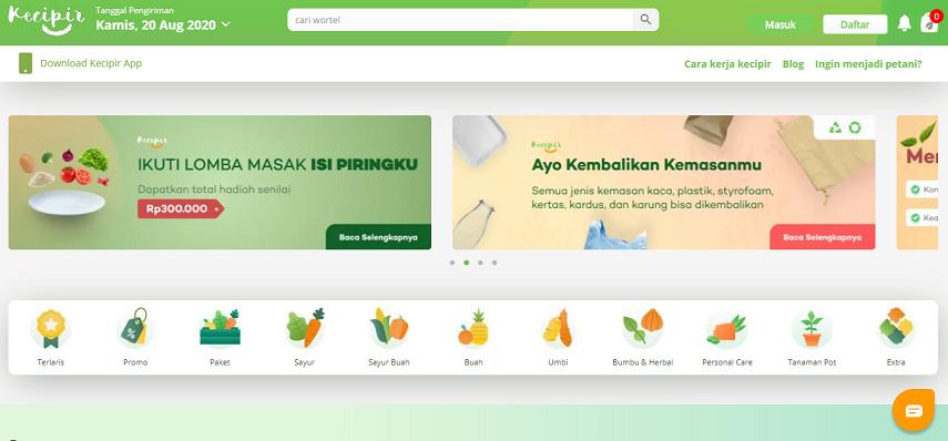 Kecipir - 15 Daftar Penjual Sayur dan Buah Online Terlengkap