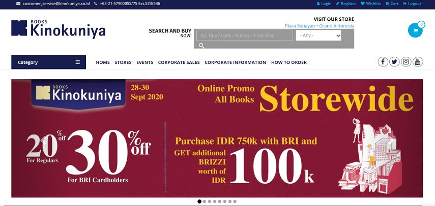Kinokuniya - 6 Cara Membeli Buku Import Online dengan Mudah dan Cepat