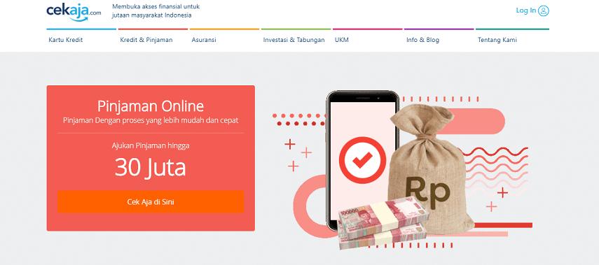 Klik Cek Aja di Sini pada Kotak Berwarna - Cara Mengajukan Pinjaman Online Kredivo Melalui CekAja