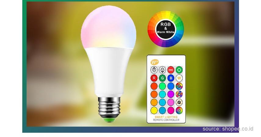 LED RGB Base - 10 Merek Lampu Meja Terbaik untuk Bantu Aktivitas Belajar di Rumah