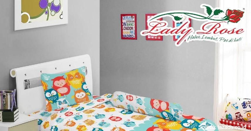Lady Rose - 8 Merek Bed Cover Terbaik yang Bikin Tidur Makin Nyenyak