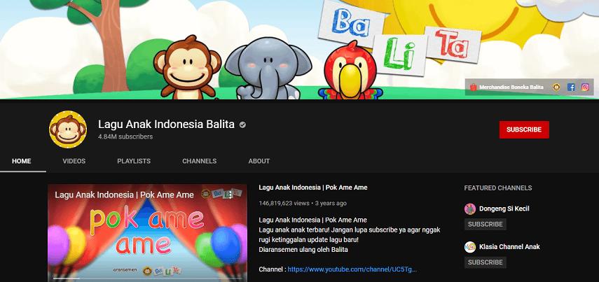 Lagu Anak Indonesia Balita - 8 Channel YouTube Edukatif untuk Anak