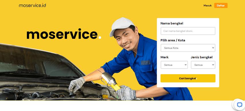 Moservice.id - Daftar Bengkel Mobil Online di Berbagai Kota di Indonesia