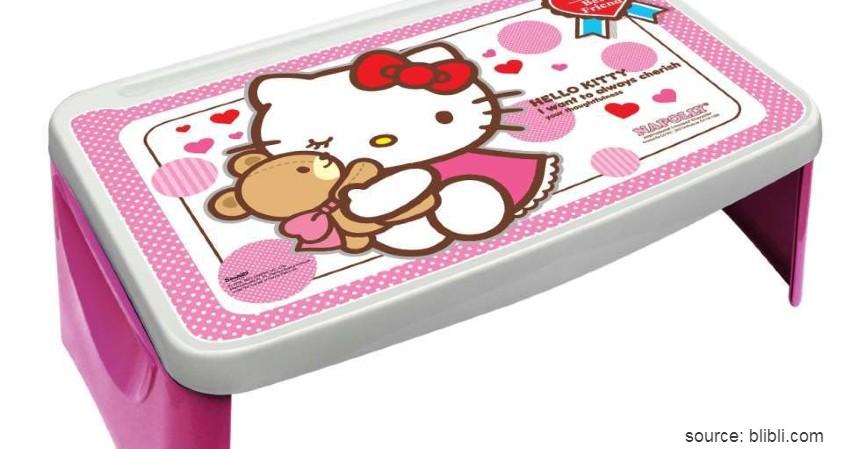 Napolly - Hello Kitty Pink Desk - Rekomendasi Meja Lipat Terbaik