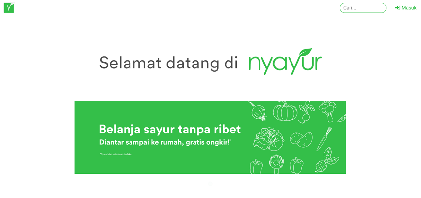 Nyayur - 15 Daftar Penjual Sayur dan Buah Online Terlengkap
