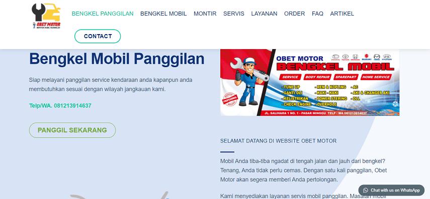 Obet Motor - Daftar Bengkel Mobil Online di Berbagai Kota di Indonesia