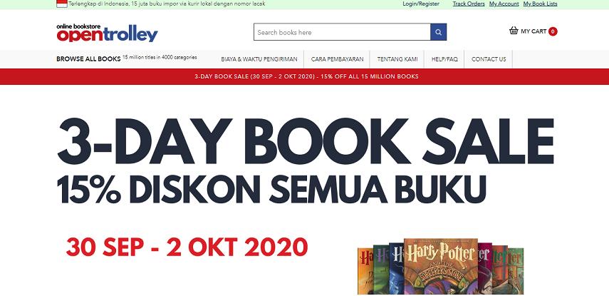 Open Trolley - 6 Cara Membeli Buku Import Online dengan Mudah dan Cepat