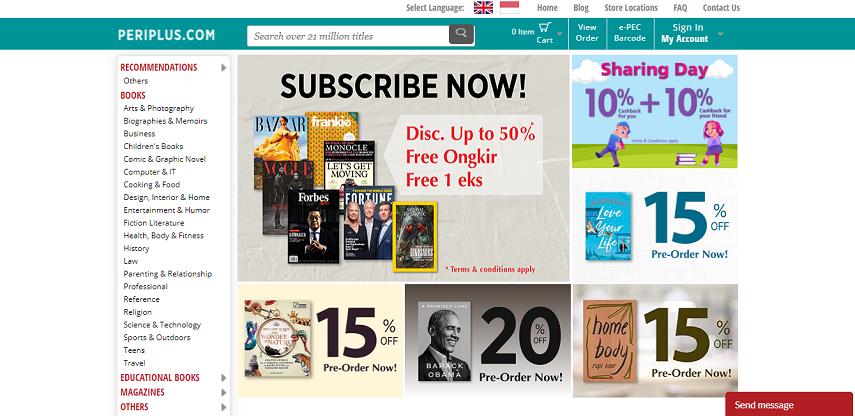Periplus - 6 Cara Membeli Buku Import Online dengan Mudah dan Cepat