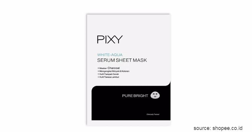 Pixy White-Aqua Serum Sheet Mask - 15 Merek Sheet Mask Terbaik 2020