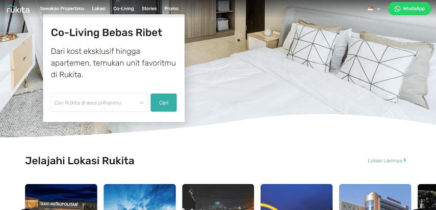Rukita.co - 7 Website Penyedia Informasi Kosan Terbaik dan Terlengkap Versi CekAja