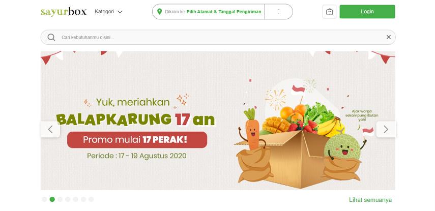 Sayurbox - 15 Daftar Penjual Sayur dan Buah Online Terlengkap