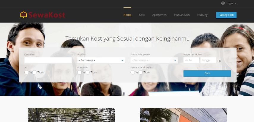 SewaKost - 7 Website Penyedia Informasi Kosan Terbaik dan Terlengkap Versi CekAja