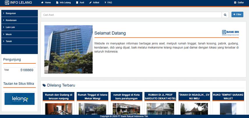 Situs rumah murah sitaan dari Bank BRI - Situs Rumah Murah Sitaan Bank BUMN