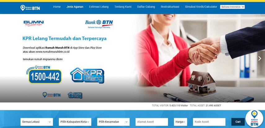 Situs rumah murah sitaan dari Bank BTN - Situs Rumah Murah Sitaan Bank BUMN