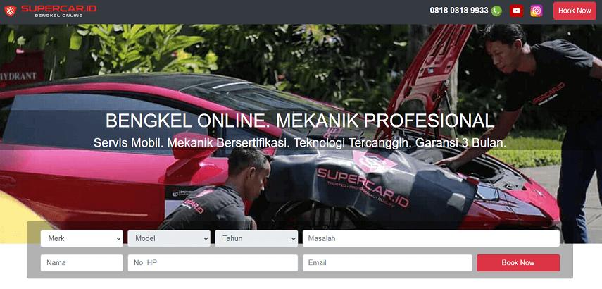 Supercar.id - Daftar Bengkel Mobil Online di Berbagai Kota di Indonesia