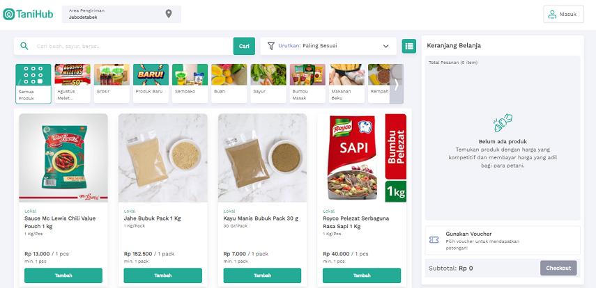 TaniHub - 15 Daftar Penjual Sayur dan Buah Online Terlengkap