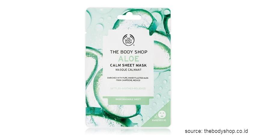 The Body Shop Aloe Calm Sheet Mask - 15 Merek Sheet Mask Terbaik 2020