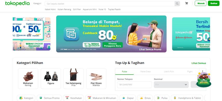Tokopedia - 6 Daftar Penjual Sembako Online Terbaik