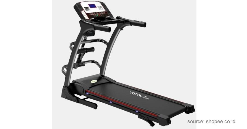 Total Fitness – Electric Treadmill - 10 Merek Treadmill Terbaik dan Murah Bikin Semangat Fitness di Rumah!